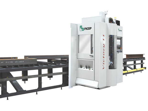 2 CNC drill lines capable of drilling, tapping, countersinking and scribing on all steel sections 2 CNC drills for drilling thick plates and small steel sections.