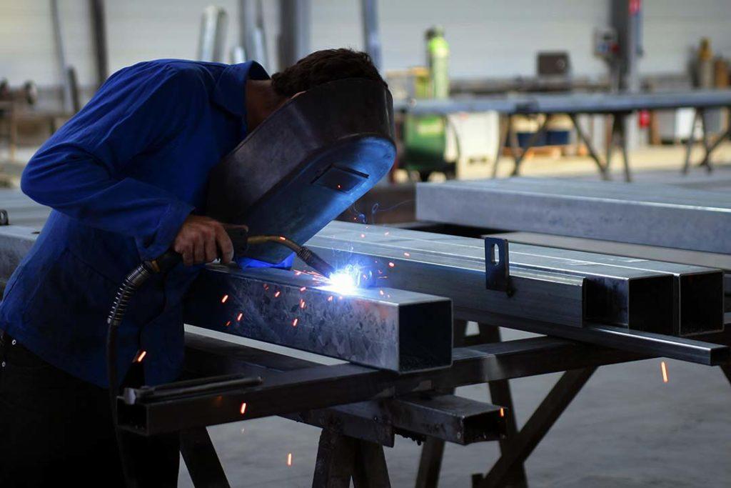 A man fabricating some steel near Salisbury