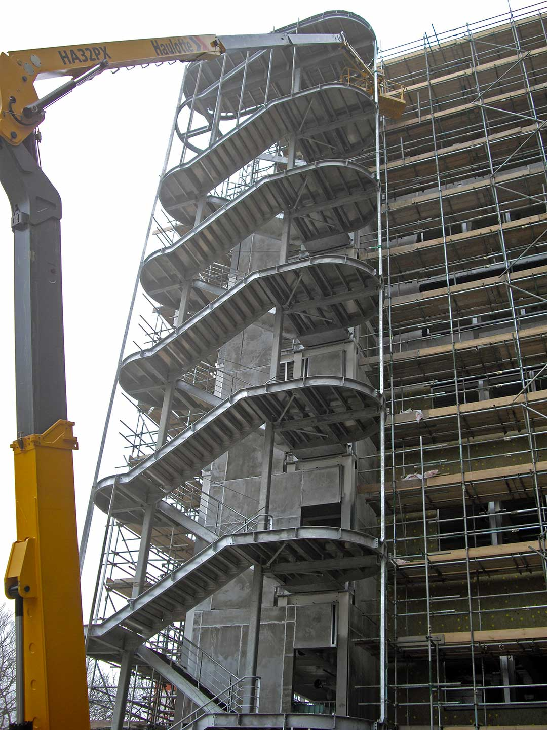 Steel fabricated stairway built by Access Engineering